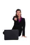 Επιχειρηματίας που δείχνει σε σας Στοκ εικόνα με δικαίωμα ελεύθερης χρήσης
