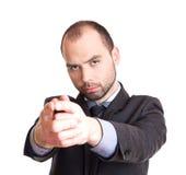 Επιχειρηματίας που δείχνει σε σας Στοκ Εικόνες