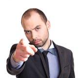 Επιχειρηματίας που δείχνει σε σας Στοκ φωτογραφία με δικαίωμα ελεύθερης χρήσης