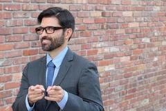 Επιχειρηματίας που δείχνει στη κάμερα - εικόνα αποθεμάτων Στοκ φωτογραφίες με δικαίωμα ελεύθερης χρήσης
