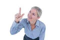 επιχειρηματίας που δείχ&nu Στοκ εικόνα με δικαίωμα ελεύθερης χρήσης
