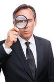Επιχειρηματίας που εξετάζει σας Στοκ Εικόνα