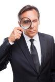 Επιχειρηματίας που εξετάζει σας Στοκ Εικόνες