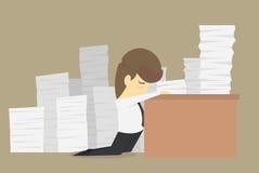 Επιχειρηματίας που εργάζεται σκληρά επίσης διανυσματική απεικόνιση