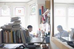 Επιχειρηματίας που εργάζεται στο γραφείο Στοκ Εικόνα