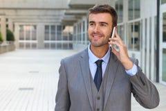 Επιχειρηματίας που κάνει μια κλήση έξω Στοκ Εικόνες