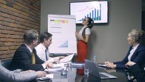 Επιχειρηματίας που κάνει τους συναδέλφους των FO παρουσίασης απόθεμα βίντεο