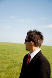 Επιχειρηματίας που κοιτάζει στο μέλλον Στοκ φωτογραφία με δικαίωμα ελεύθερης χρήσης