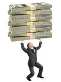 Επιχειρηματίας που κρατά τα μεγάλα μετρητά Στοκ εικόνες με δικαίωμα ελεύθερης χρήσης