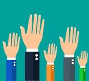 Επιχειρηματίας που κρατά τα χέρια τους επάνω Στοκ εικόνα με δικαίωμα ελεύθερης χρήσης