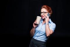 Επιχειρηματίας που μιλά στο smartphone Στοκ Φωτογραφία
