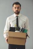 Επιχειρηματίας που παίρνει βαλμένος φωτιά Στοκ Εικόνα