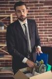 Επιχειρηματίας που παίρνει βαλμένος φωτιά Στοκ φωτογραφία με δικαίωμα ελεύθερης χρήσης
