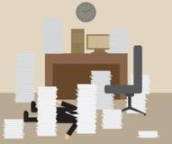 Επιχειρηματίας που παίρνει τον κτύπο από σκληρά να εργαστεί διανυσματική απεικόνιση
