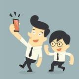 Επιχειρηματίας που παίρνει selfie απεικόνιση αποθεμάτων