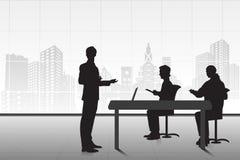 Επιχειρηματίας που παρουσιάζει διανυσματική απεικόνιση