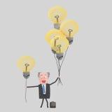 Επιχειρηματίας που προσφέρει τις μεγάλες ιδέες Στοκ Φωτογραφίες