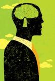 Επιχειρηματίας που σκέφτεται πράσινος Στοκ Εικόνα
