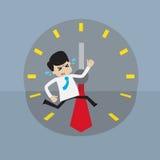 Επιχειρηματίας που συναγωνίζεται με το χρόνο ελεύθερη απεικόνιση δικαιώματος