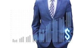 Επιχειρηματίας που τρέχει στην αύξηση προγράμματος στοκ φωτογραφίες