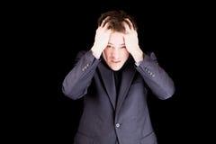 0 επιχειρηματίας που τραβά τις τρίχες Στοκ Φωτογραφία