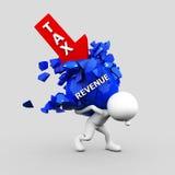 Επιχειρηματίας που φέρνει το βαρύ φορτίο φόρου και εισοδήματος με το ψαλίδισμα Στοκ φωτογραφία με δικαίωμα ελεύθερης χρήσης