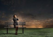 επιχειρηματίας που φοβά&tau Στοκ εικόνες με δικαίωμα ελεύθερης χρήσης