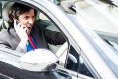0 επιχειρηματίας που φωνάζει οδηγώντας Στοκ εικόνα με δικαίωμα ελεύθερης χρήσης