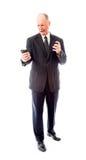 0 επιχειρηματίας που φωνάζει σε ένα κινητό τηλέφωνο Στοκ φωτογραφίες με δικαίωμα ελεύθερης χρήσης