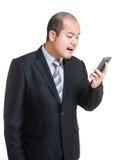 Επιχειρηματίας που φωνάζει σε κινητό Στοκ Εικόνα