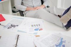 επιχειρηματίας που χαλ&alph Στοκ Εικόνα