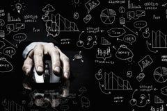 Επιχειρηματίας που χρησιμοποιεί το ποντίκι Στοκ Εικόνες