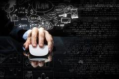 Επιχειρηματίας που χρησιμοποιεί το ποντίκι Στοκ φωτογραφία με δικαίωμα ελεύθερης χρήσης