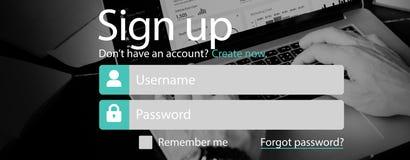 Επιχειρηματίας που χρησιμοποιεί το lap-top που λειτουργεί τη γραφική έννοια Στοκ εικόνα με δικαίωμα ελεύθερης χρήσης
