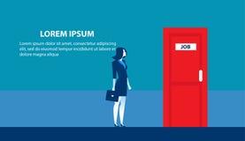 Επιχειρηματίας που ψάχνει για την εργασία Μόνιμο γραφείο υποψηφίων ατόμων ελεύθερη απεικόνιση δικαιώματος