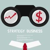 Επιχειρηματίας που ψάχνει το διάγραμμα και τα χρήματα αύξησης τρισδιάστατο χέρι έννοιας επιχειρηματιών που δείχνει τη λέξη οράματ Στοκ Φωτογραφία