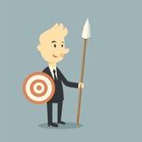 Επιχειρηματίας πολεμιστών ελεύθερη απεικόνιση δικαιώματος