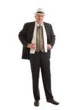 Επιχειρηματίας σε ένα αναδρομικό επιχειρησιακό κοστούμι Στοκ Φωτογραφίες