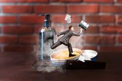 Επιχειρηματίας σε μια βιασύνη στοκ φωτογραφία με δικαίωμα ελεύθερης χρήσης