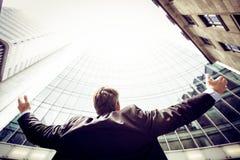 Επιχειρηματίας σε Frankfurt/$l*Main Στοκ Εικόνα