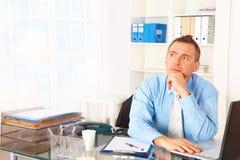 Επιχειρηματίας στην αρχή Στοκ Εικόνες