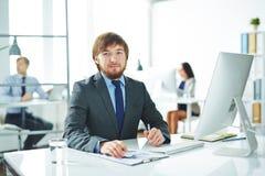Επιχειρηματίας στην αρχή Στοκ φωτογραφία με δικαίωμα ελεύθερης χρήσης