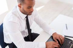 Επιχειρηματίας στην εργασία Στοκ Εικόνες