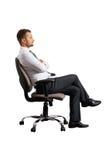 Επιχειρηματίας στην καρέκλα γραφείων Στοκ φωτογραφία με δικαίωμα ελεύθερης χρήσης
