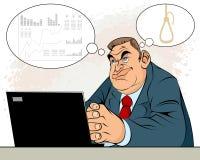 Επιχειρηματίας στην κατάθλιψη απεικόνιση αποθεμάτων