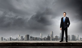 Επιχειρηματίας στην κορυφή Στοκ εικόνα με δικαίωμα ελεύθερης χρήσης