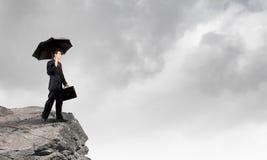 Επιχειρηματίας στην κορυφή Στοκ Φωτογραφία