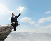 Επιχειρηματίας στην κορυφή Στοκ εικόνες με δικαίωμα ελεύθερης χρήσης