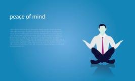 Επιχειρηματίας στη θέση γιόγκας Η ηρεμία χαλαρώνει στην επιχείρηση ελεύθερη απεικόνιση δικαιώματος
