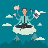 Επιχειρηματίας στη θέση ουρανού απεικόνιση αποθεμάτων